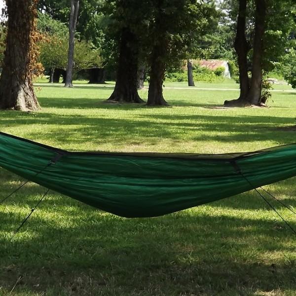 Switchback 1.9 Single Layer Netless Hammock in Green