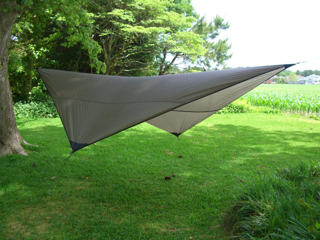 tttg diamond tarp in brown tree to tree diamond tarp   the best camping hammock tarp  rh   southriverflyshop